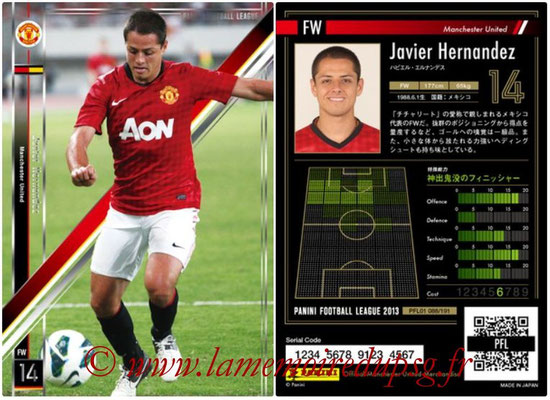 Panini Football League 2013 - PFL01 - N° 088 - Javier Hernandez ( Manchester United  )