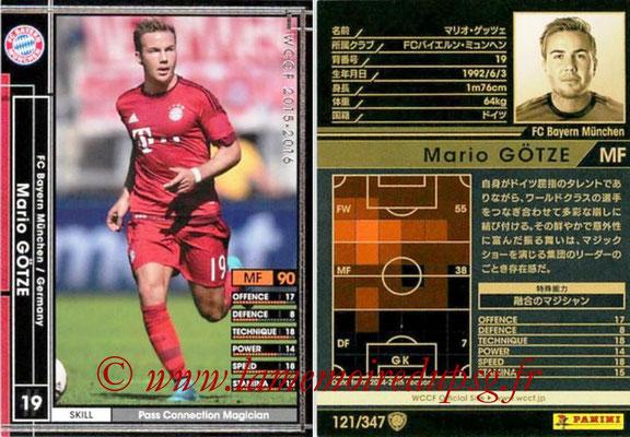 2015-16 - Panini WCCF - N° 121 - Mario GÖTZE (FC Bayern Munich)