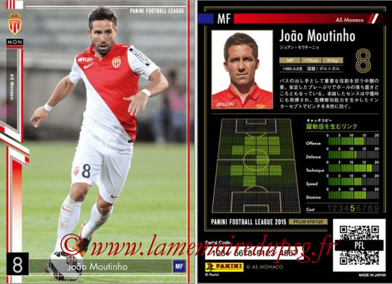 Panini Football League 2015 - PFL09 - N° 076 - Joao MOUTINHO (AS Monaco)