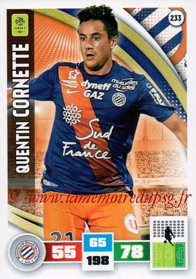 2016-17 - Panini Adrenalyn XL Ligue 1 - N° 233 - Quentin CORNETTE (Montpellier)