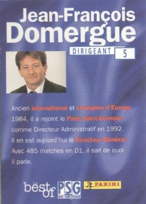 N° 005 - Jean-François DOMERGUE (Verso)