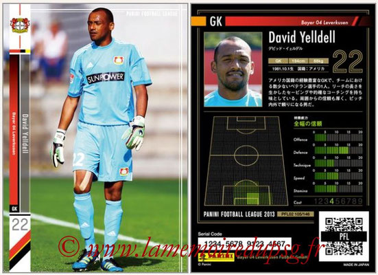 Panini Football League 2013 - PFL02 - N° 105 - David Yelldell ( Bayer 04 Leverkusen )