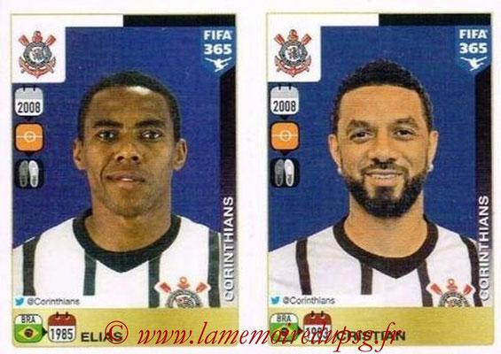 2015-16 - Panini FIFA 365 Stickers - N° 172-176 - ELIAS + CRISTIAN (SC Corinthians)