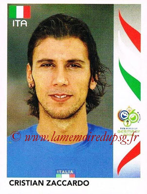 2006 - Panini FIFA World Cup Germany Stickers - N° 329 - Cristian ZACCARDO (Italie)