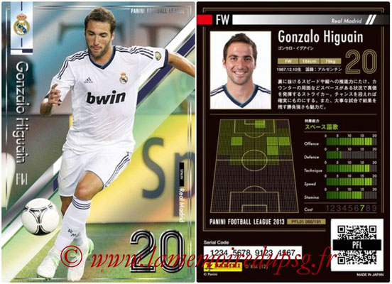 Panini Football League 2013 - PFL01 - N° 066 - Gonzalo Higuain ( Real Madrid )