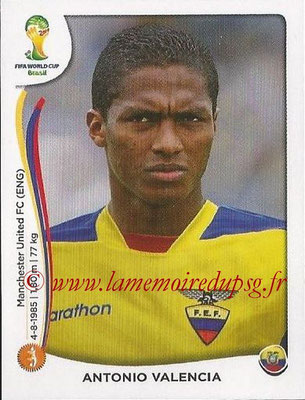 2014 - Panini FIFA World Cup Brazil Stickers - N° 369 - Antonio VALENCIA (Equateur)