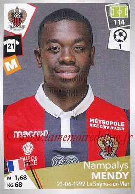 2017-18 - Panini Ligue 1 Stickers - N° 350 - Nampalys MENDY (Nice)