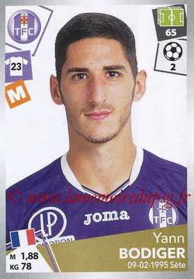 2017-18 - Panini Ligue 1 Stickers - N° 477 - Yann BODIGER (Toulouse)
