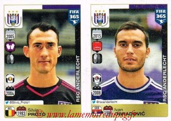 2015-16 - Panini FIFA 365 Stickers - N° 132-133 - Silvio PROTO + Ivan OBRADOVIC (RSC Anderlecht)