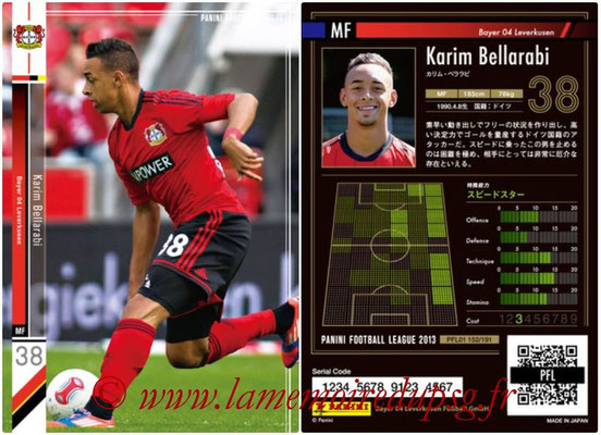 Panini Football League 2013 - PFL01 - N° 152 - Karim Bellarabi ( Bayer 04 Leverkusen )
