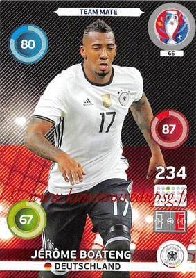 Panini Euro 2016 Cards - N° 066 - Jérôme BOATENG (Allemagne)