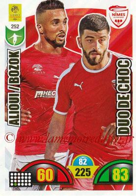 2018-19 - Panini Adrenalyn XL Ligue 1 - N° 252 - Rachid ALIOUI + Umut BOZOK (Nîmes) (Duo de Choc)