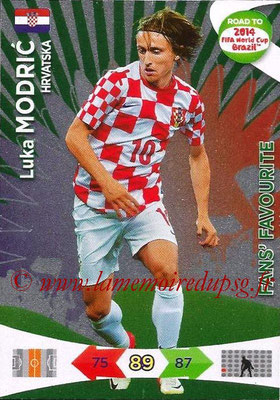 2014 - Panini Road to FIFA World Cup Brazil Adrenalyn XL - N° 198 - Luka MODRIC (Croatie) (Fan's Favourite)