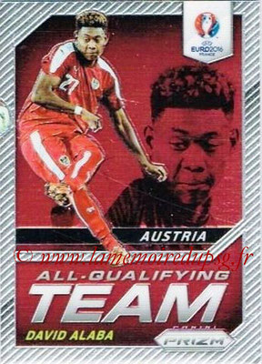 Euro 2016 Panini Prizm - N° AQ-06 - David ALABA (Autriche) (All-Qualifying Team)