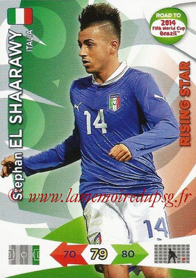 2014 - Panini Road to FIFA World Cup Brazil Adrenalyn XL - N° 128 - Stephan EL SHAARAWY (Italie) (Rising Star)