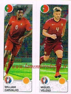 Panini Euro 2016 Stickers - N° 601 - William CARVALHO + Miguel VELOSO (Portugal)