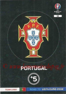 Panini Road to Euro 2016 Cards - N° 018 - Ecusson Portugal