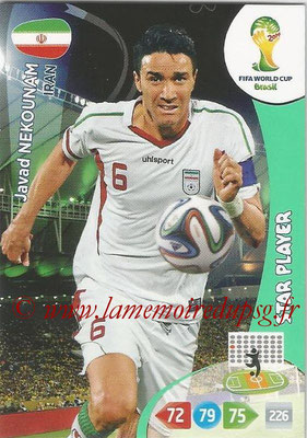 2014 - Panini FIFA World Cup Brazil Adrenalyn XL - N° 205 - Javad NEKOUNAM (Iran) (Star Player)