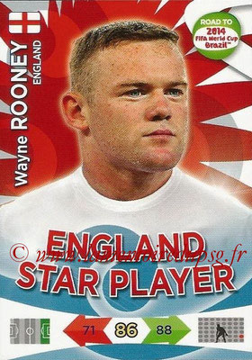 2014 - Panini Road to FIFA World Cup Brazil Adrenalyn XL - N° 071 - Wayne ROONEY (Angleterre)