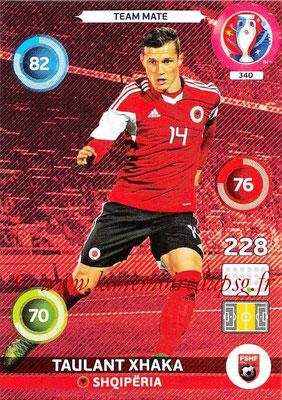 Panini Euro 2016 Cards - N° 340 - Taulant XHAKA (Albanie)