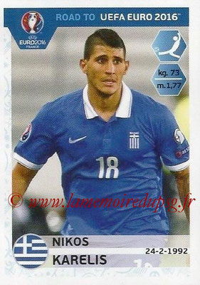 Panini Road to Euro 2016 Stickers - N° 127 - Nikos KARELIS (Grèce)