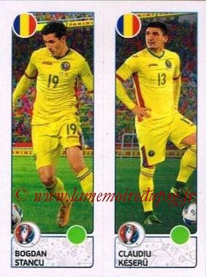 Panini Euro 2016 Stickers - N° 048 - Bogdan STANCU + Claudiu KESERU (Roumanie)
