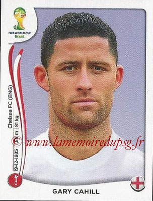 2014 - Panini FIFA World Cup Brazil Stickers - N° 303 - Gary CAHILL (Angleterre)