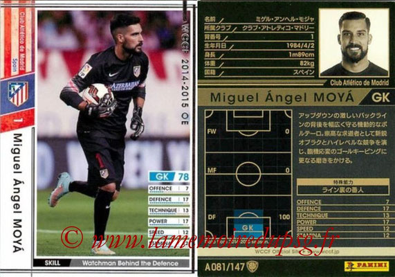 2014-15 - WCCF - N° A081 - Miguel Angel MOYA (Atletico Madrid)