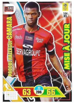 2017-18 - Panini Adrenalyn XL Ligue 1 - N° 104bis - Abdoul-Razzagui CAMARA (Guingamp) (Mise à jour)