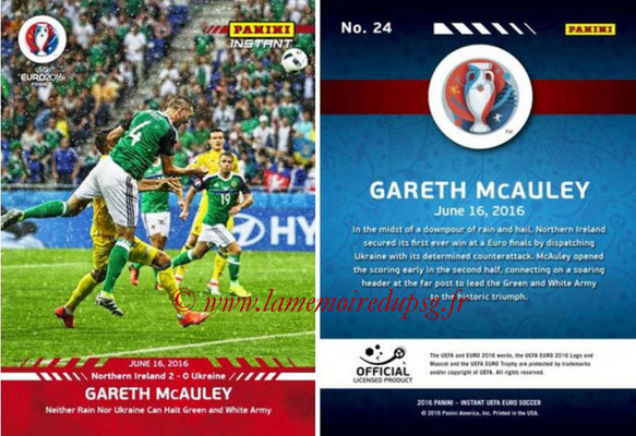 Panini Instant Euro 2016 - N° 024 - Gareth MC CAULEY