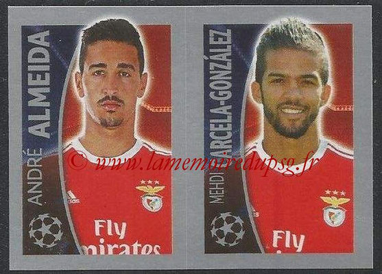 2015-16 - Topps UEFA Champions League Stickers - N° 174 - André ALMEIDA + Mehdi CARCELA-GONZALEZ (SL Benfica)
