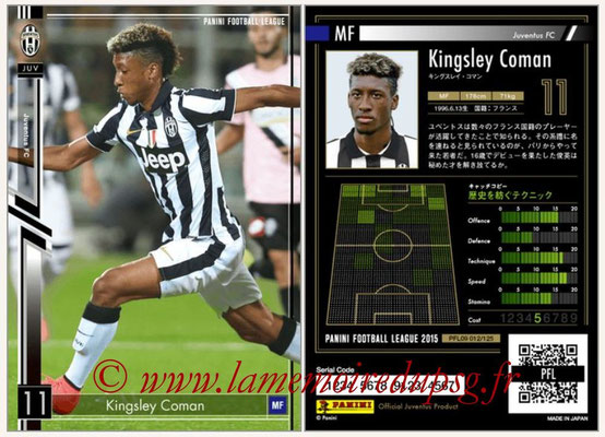 Panini Football League 2015 - PFL09 - N° 012 - Kingsley COMAN (Juventus Turin)
