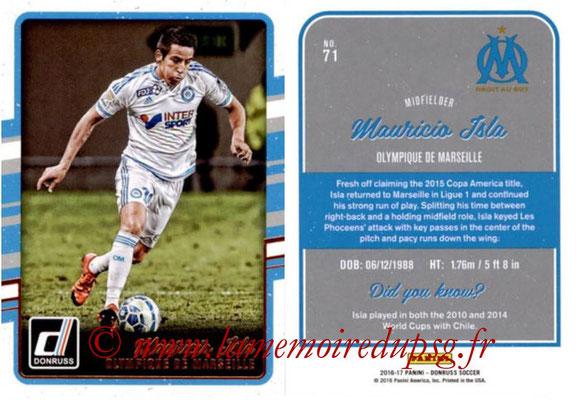 2016 - Panini Donruss Cards - N° 071 - Mauricio ISLA (Olympique de Marseille)