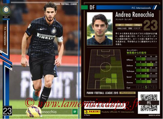 Panini Football League 2015 - PFL13 - N° 011 - Andrea RANOCCHIA (FC Internazionale)