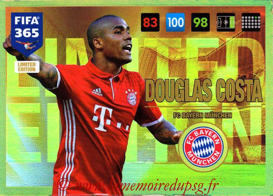 2016-17 - Panini Adrenalyn XL FIFA 365 - N° LE22 - Douglas COSTA (FC Bayern Munich) (Limited Edition)
