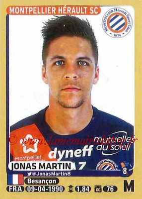 2015-16 - Panini Ligue 1 Stickers - N° 279 - Jonas MARTIN (Montpellier Hérault SC)