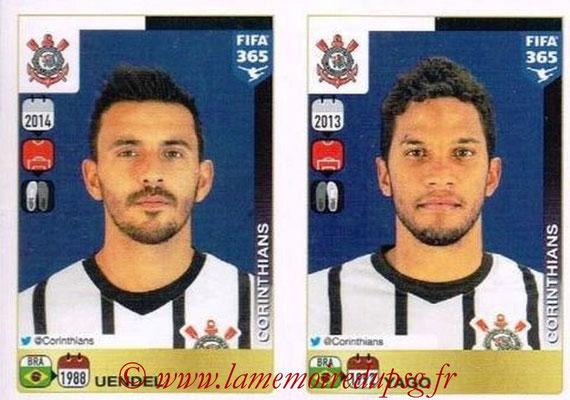 2015-16 - Panini FIFA 365 Stickers - N° 168-169 - VENDEL + YAGO (SC Corinthians)