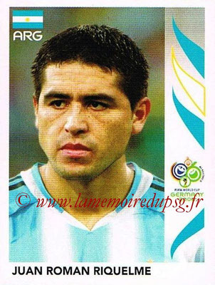 2006 - Panini FIFA World Cup Germany Stickers - N° 181 - Juan Roman RIQUELME (Argentine)