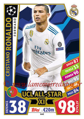 2017-18 - Topps UEFA Champions League Match Attax - N° 440 - Cristiano RONALDO (Real Mdrid CF) (UCL All-Star XI)