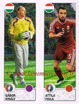 Panini Euro 2016 Stickers - N° 656 - Gabor KIRALY + Attila FIOLA (Hongrie)