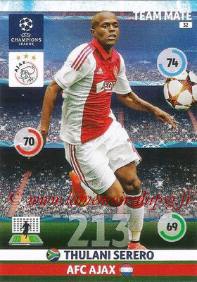 2014-15 - Adrenalyn XL champions League N° 032 - Thulani SERERO (AFC Ajax)