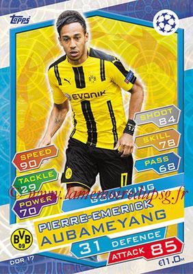 2016-17 - Topps UEFA Champions League Match Attax - N° DOR17 - Pierre Emerick AUBAMEYANG (Borussia Dortmund) (Goal King)