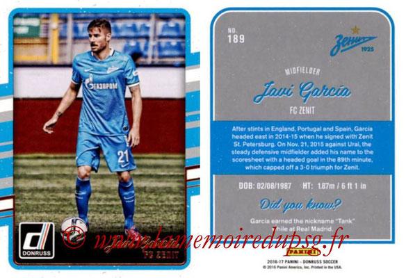 2016 - Panini Donruss Cards - N° 189 - Javi GARCIA (FC Zenit)