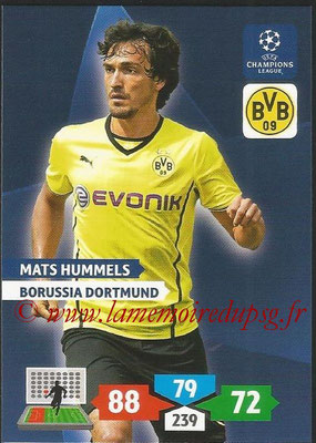 2013-14 - Adrenalyn XL champions League N° 101 - Mats HUMMELS (Borussia Dortmund)