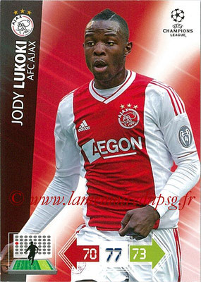2012-13 - Adrenalyn XL champions League N° 010 - Jodi LUKOKI (AFC Ajax)
