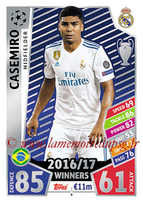 2017-18 - Topps UEFA Champions League Match Attax - N° 009 - CASEMIRO (Real Madrid CF)