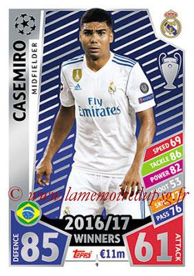 2017-18 - Topps UEFA Champions League Match Attax - N° 009 - CASEMIRO (Real Madrid CF)