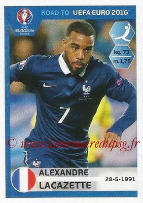 Panini Road to Euro 2016 Stickers - N° 109 - Alexandre LACAZETTE (France)