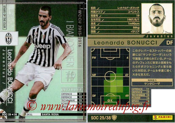 2015-16 - Panini WCCF - N° SOC25 - Leonardo BONUCCI (Juventus FC) (Stars Of The Club)