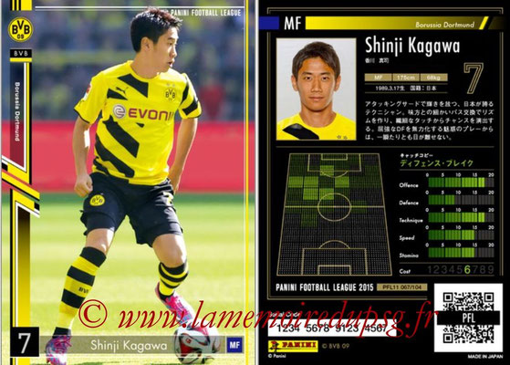 Panini Football League 2015 - PFL11 - N° 067 - Shinji KAGAWA (Borussia Dortmund)